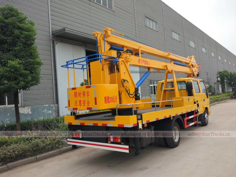 Chine 18m Isuzu camion de plate-forme de travail aérien