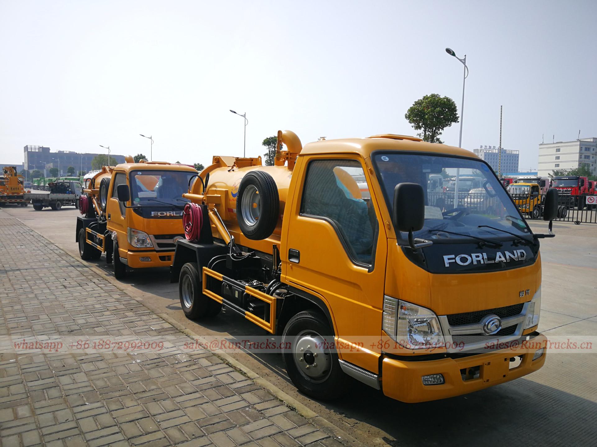 中国Foton Forland 3 cbm下水吸引トラック
