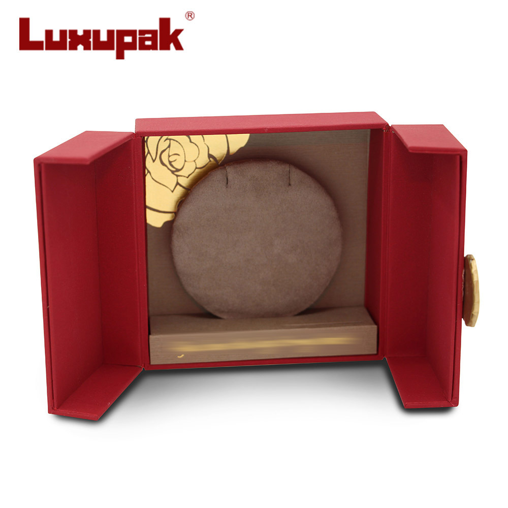 Red Cardboard Jewelry Box C16247