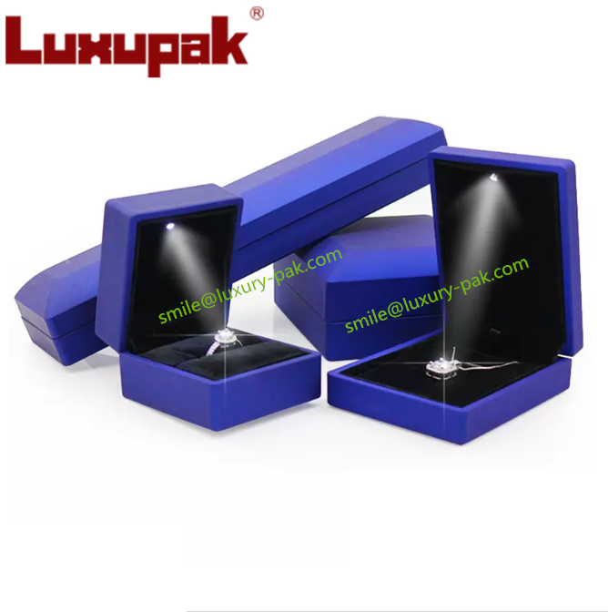 LED Light Jewelry Box, Wedding ring Box,gift boxes for neckl