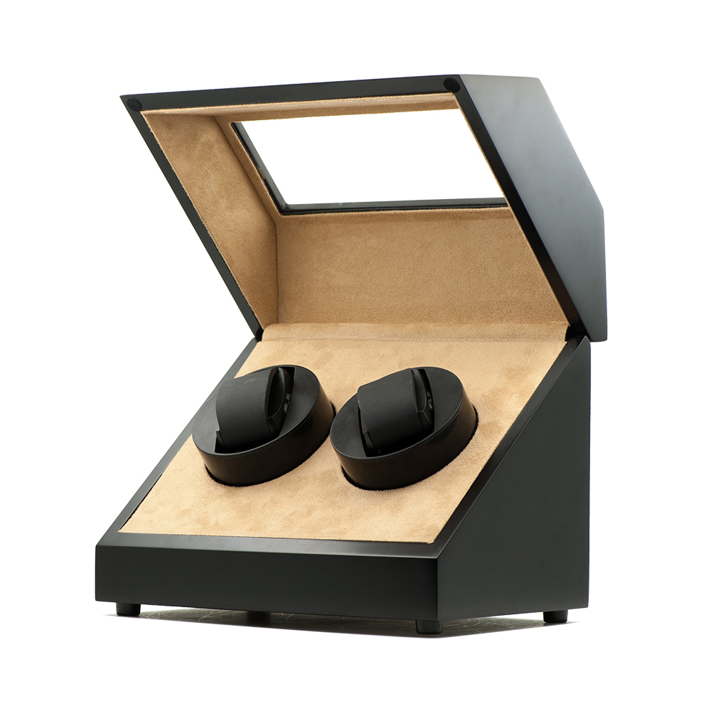 Wooden Watch Winder for double watches ww-02132