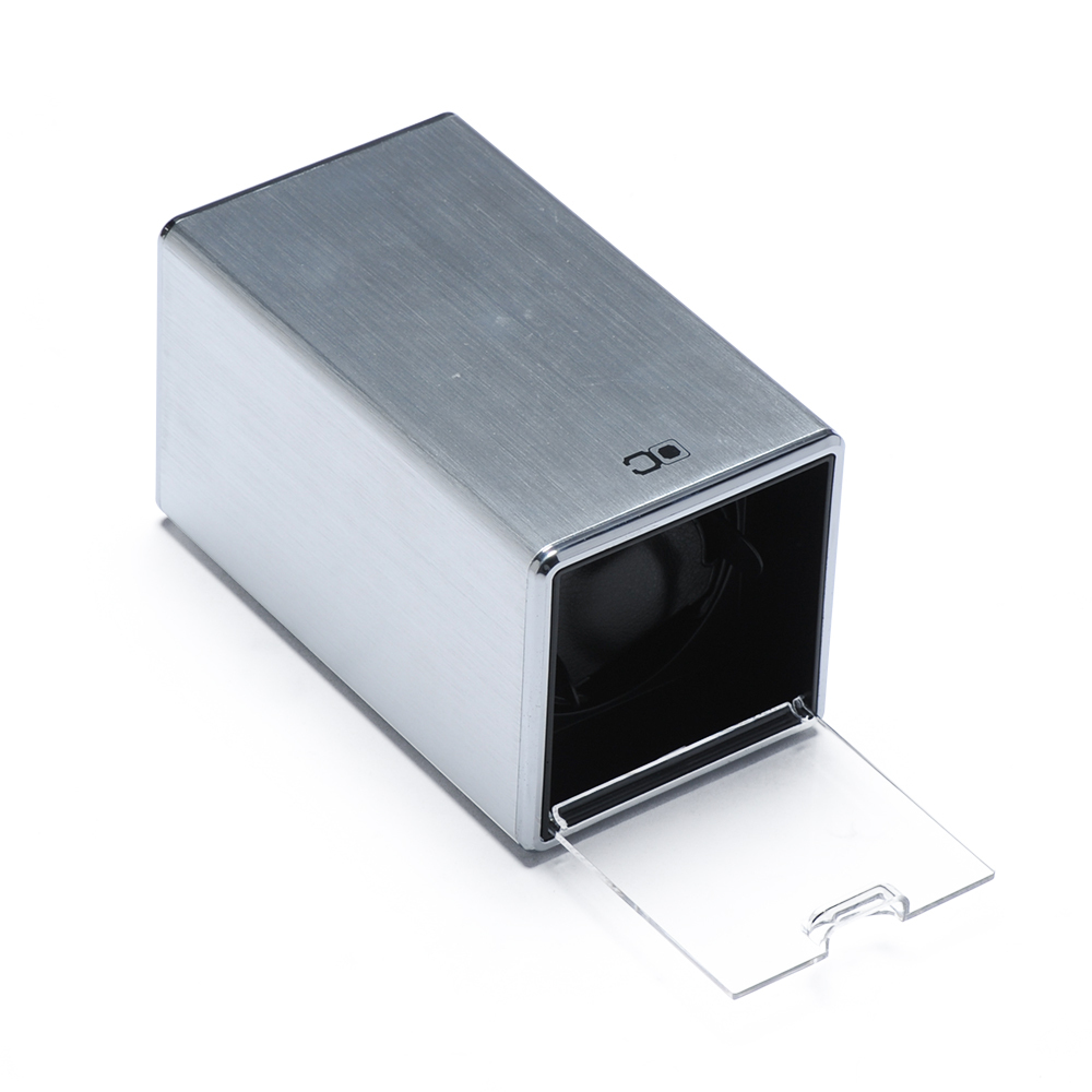 Single Watch Winder, Silver WW-01604