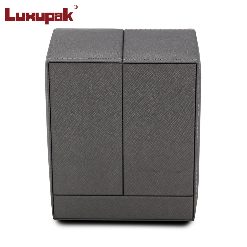 Double Door Earring Box PU leather jewelry box JB-086