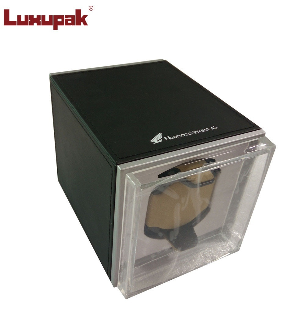 Single Watch Winder Com moldura de metal 4G-AJ (PU)