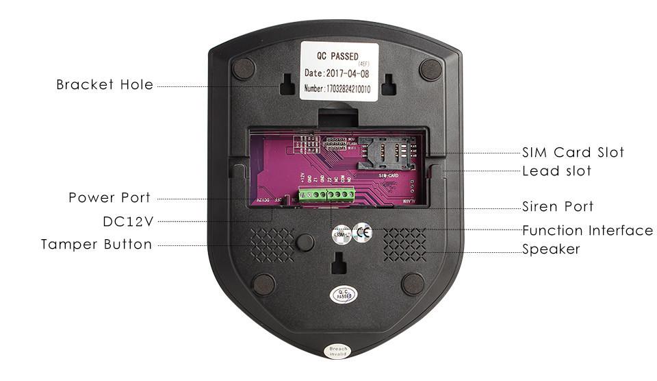WIFI-GSM-sistema de alarme, RFID-cartão-contrl, sistema de a