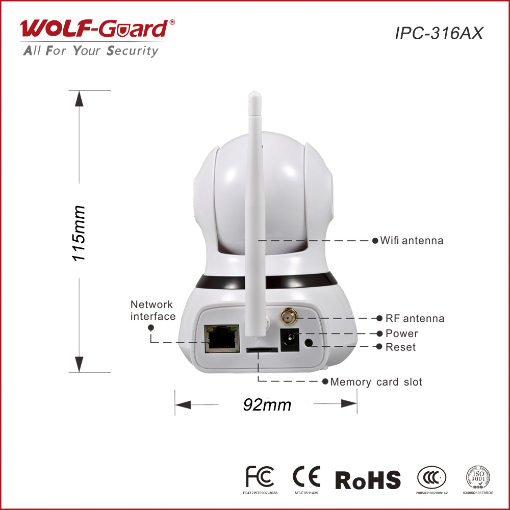Wolf-garde Intelligent WIFI + WAN Caméra IP