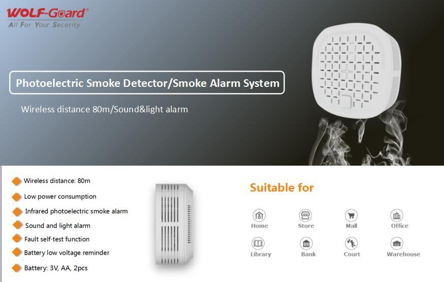 # Wolf-guard Photoelectric Smoke Detector / # Smoke Alarm Sy