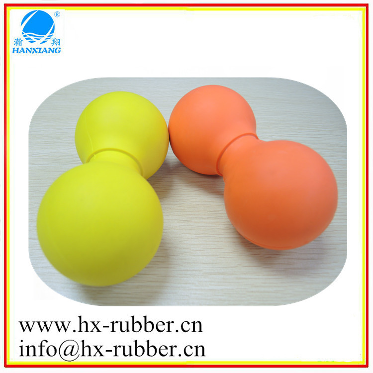 Customer double lacrosse massage rubber ball with logo