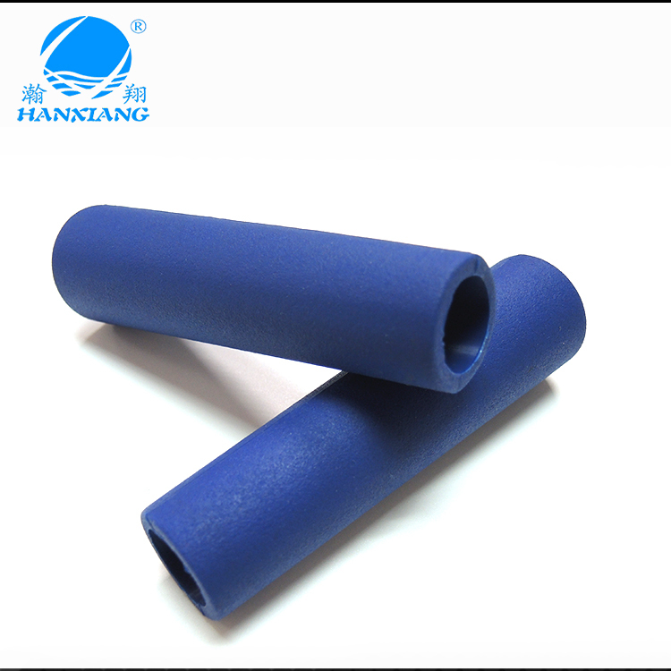 Round bicycle handle grip with silicone rubber material