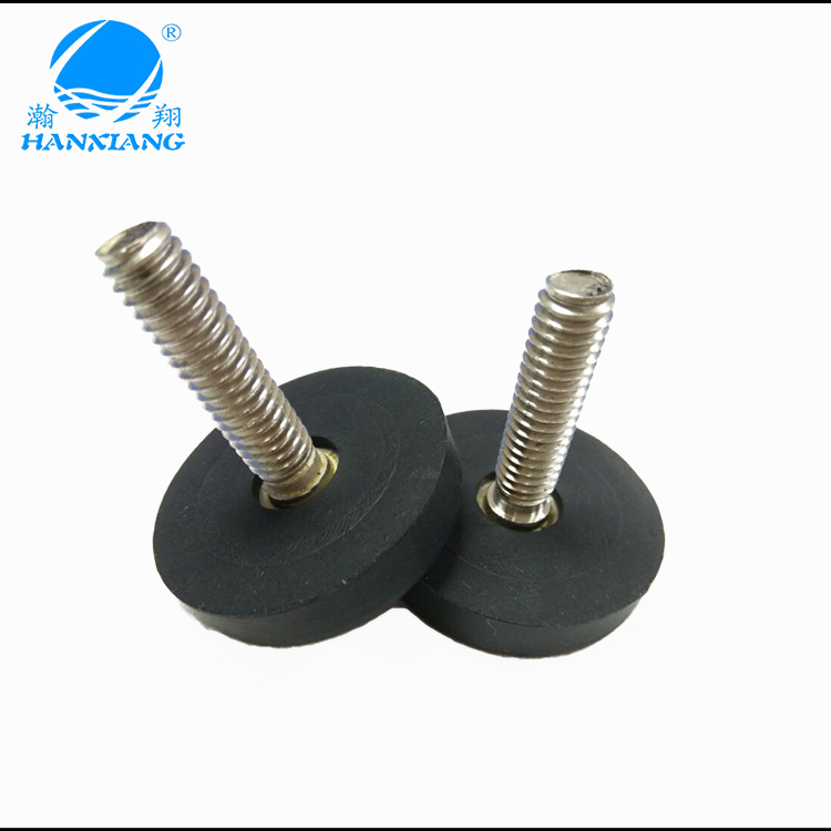 Non marking rubber feet with metal insert replacement