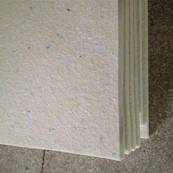 Compressed rebonded foam sheet