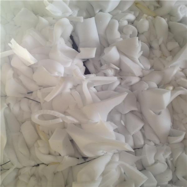 Pure white furniture foam scrap