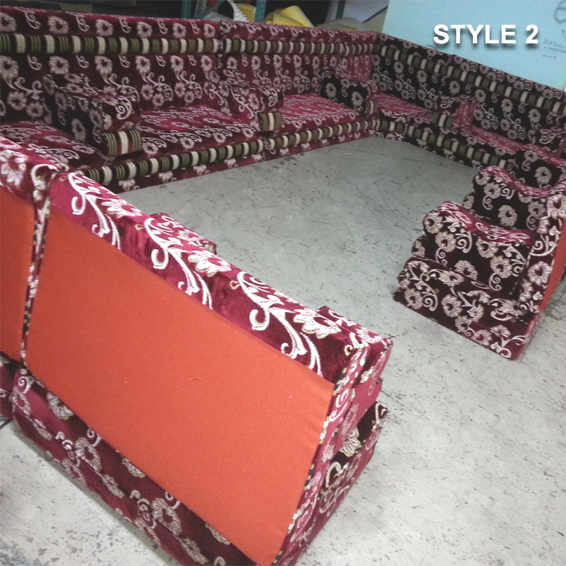Style 2 Fabric Purple Color Arabic Majlis Sofa Floor Seatin ...