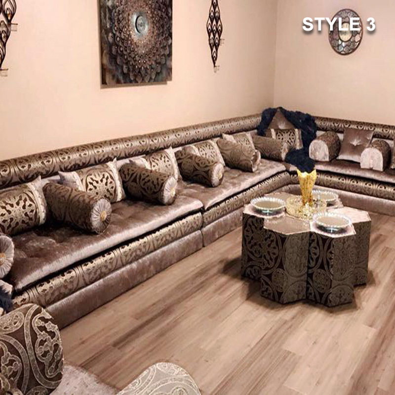 Attrayant ... Style 3 Fabric Brown Color Arabic Majlis Sofa Floor Seating ...