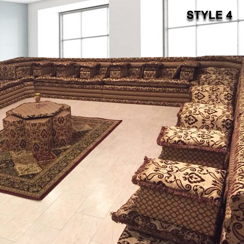 Style 4 Oriental Arabic Majlis Sofa Floor Seating Jalsa Sofa