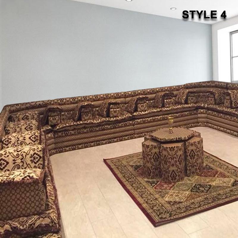 Style 4 oriental arabic majlis sofa floor seating jalsa for Sofa 4 meter