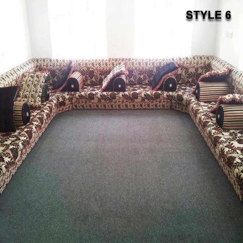 Style 6 Arabic Majlis Sofa Floor Seating Jalsa Sofa