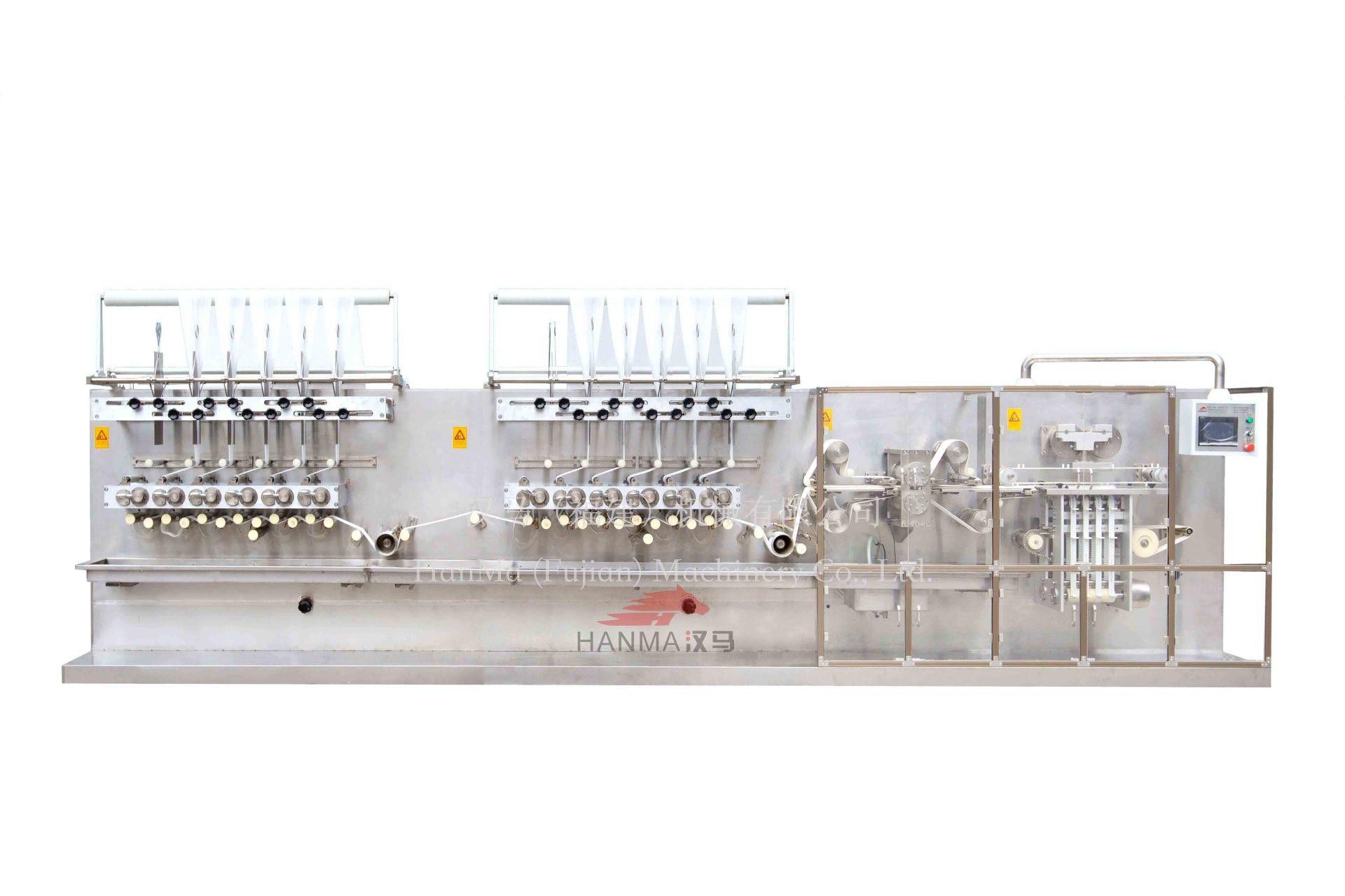 HM-ZD1280A  全自动高速湿巾折叠机(40-120片/包)