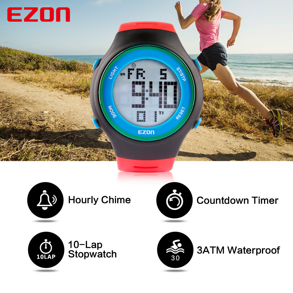 L008 Digital Sport Watch для наружного бега с секундомером,