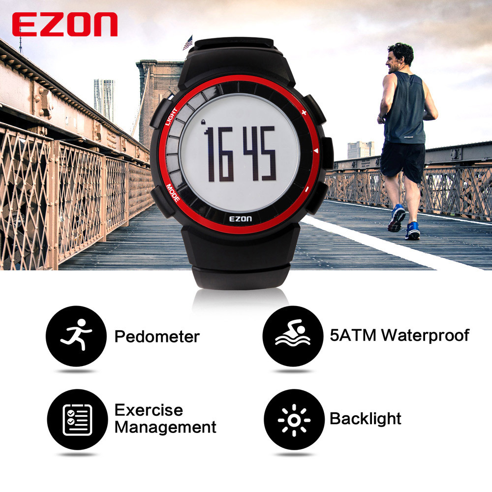T029 Digital Sport Watches for Outdoor Running with 5ATM Wat