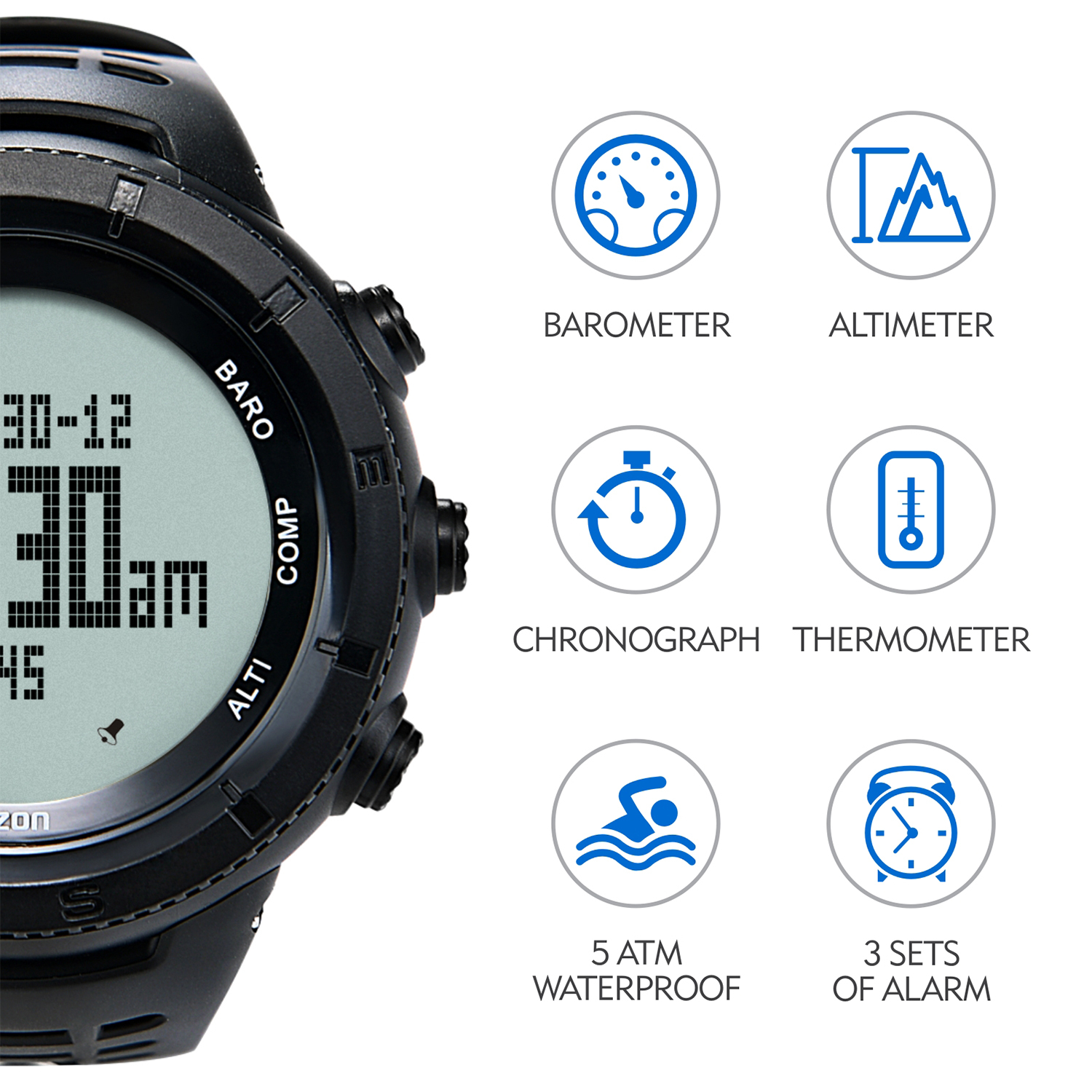 Sports Watch with Altimeter Barometer Compass Digital Watch