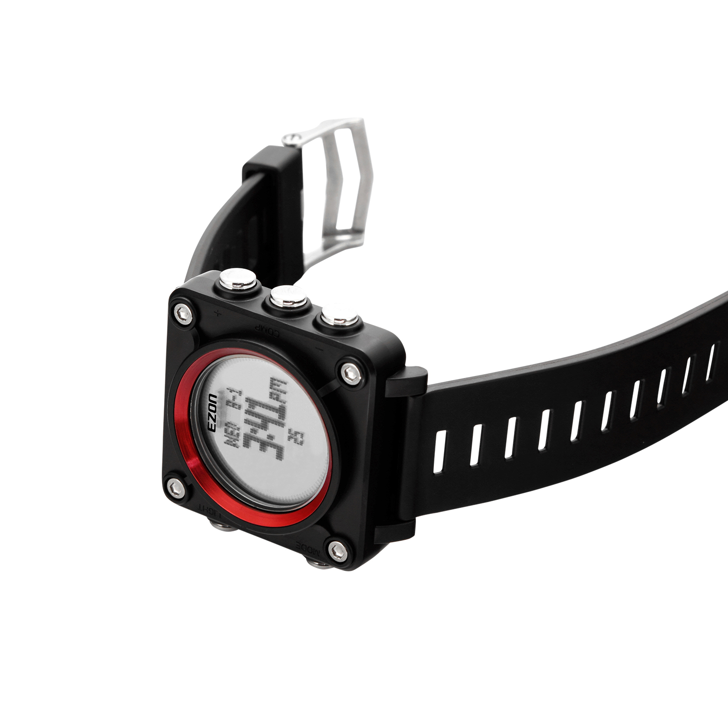 L012A12(Red) Outdoor Leisure Watch with Alarm, Stopwatch
