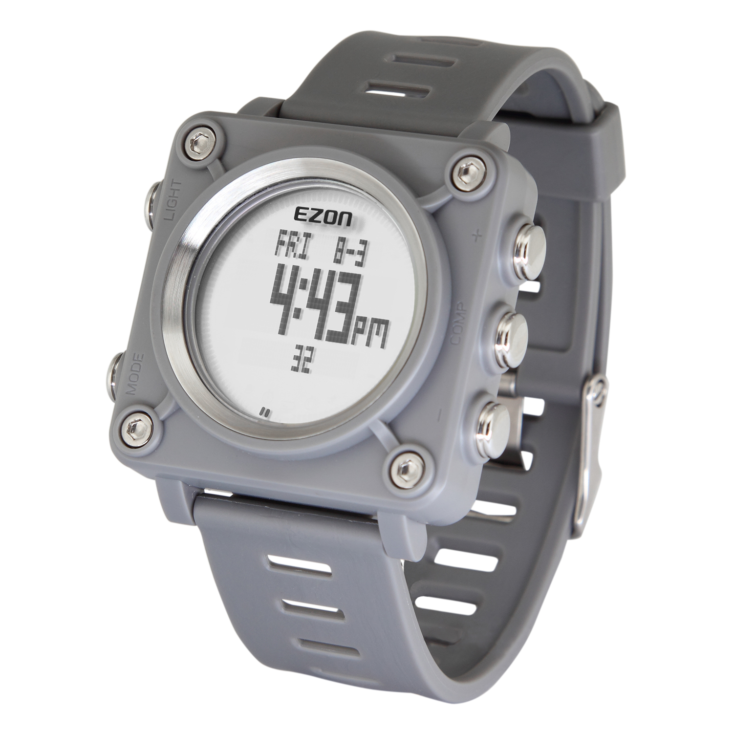 L012A14(Grey) Outdoor Leisure Watch with Alarm, Stopwatch