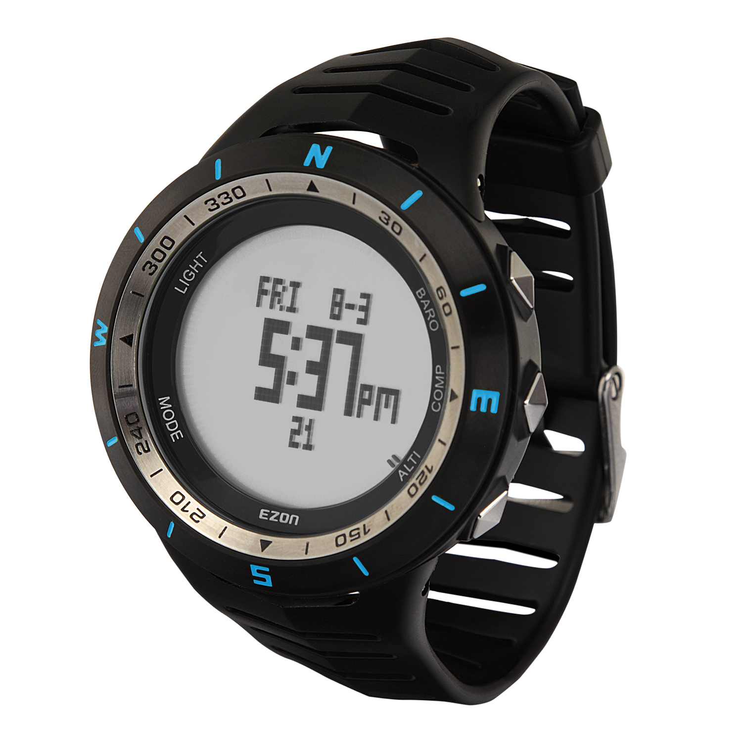 H005A13(Blue) Multi-function Outdoor Mountaineering Watch