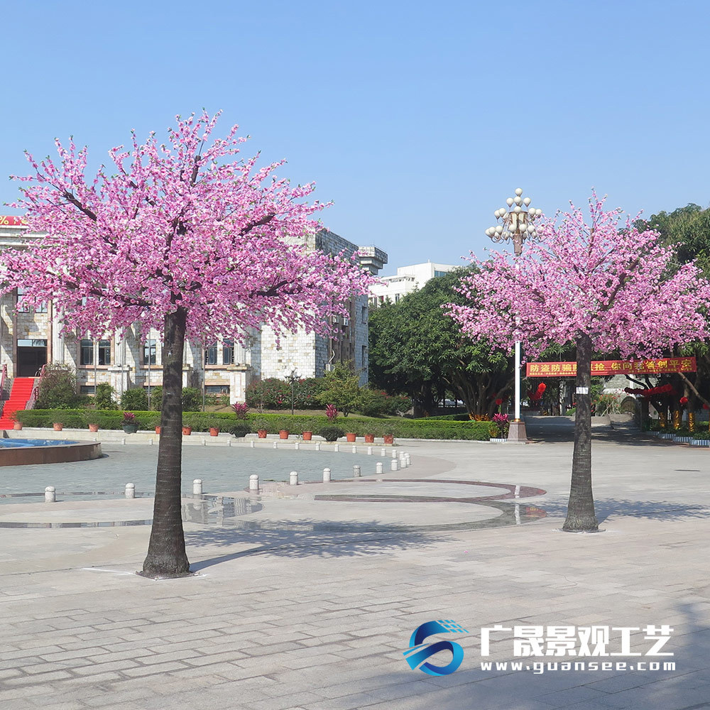 Artificial Peach blossom Tree flower indoor outdoor decorati