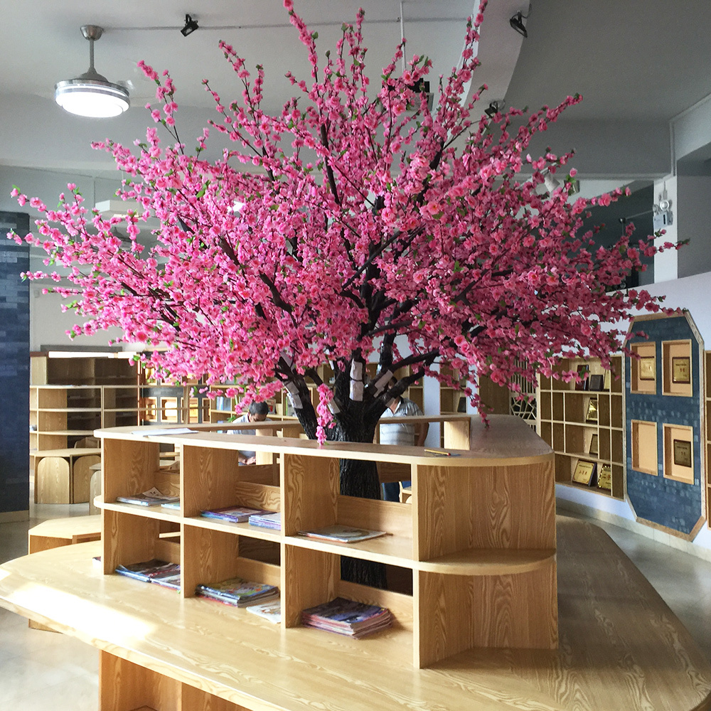 Artificial pink peach blossom tree