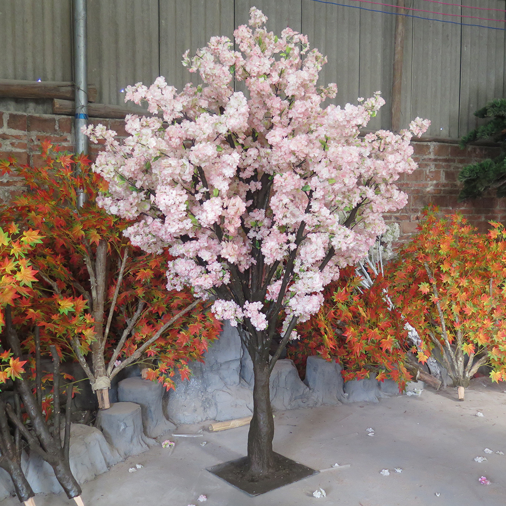 Wedding decoration artificial sakura tree cherry blossom for Artificial trees for home decoration