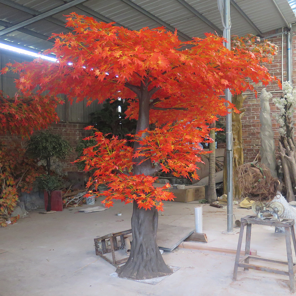 fake maple tree artificial maple tree red for indoor