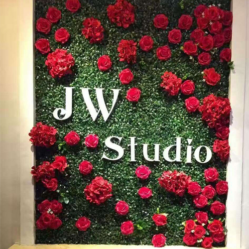 Artificial Plant Wall With Flower