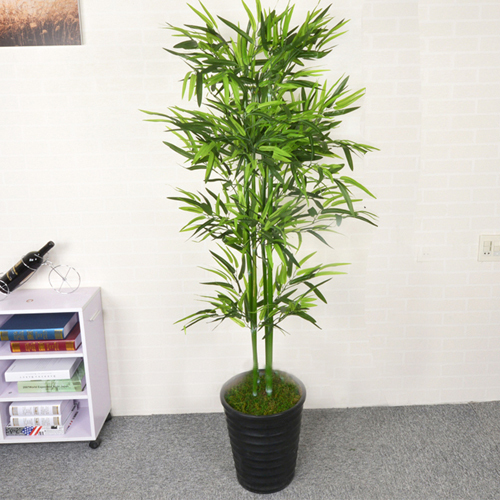 Artificial Bonsai Leaves Green Artificial Bamboo Tree
