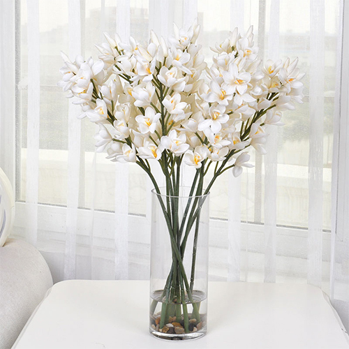 Home decoration artificial orchid silk flower branch