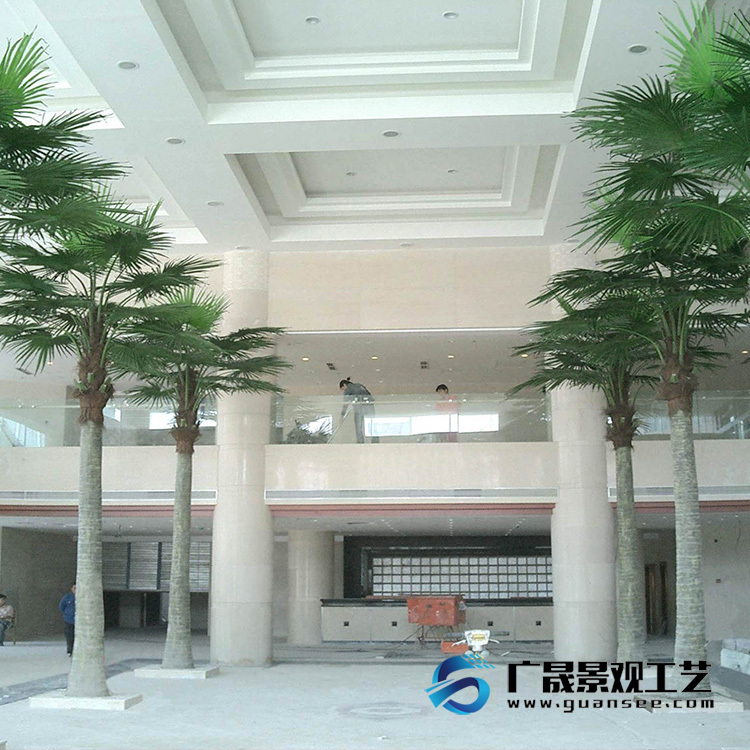 Artificial palm tree fake fan tree fiberglass material