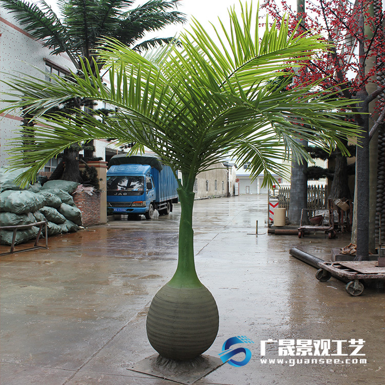 customized size small artificial palm tree for indoor decora