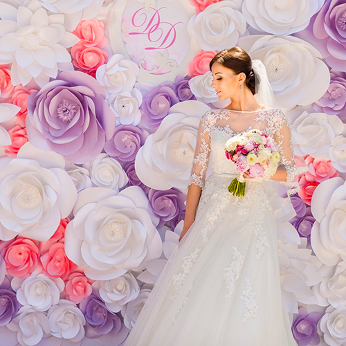 High quality artificial flower wall for wedding decorations