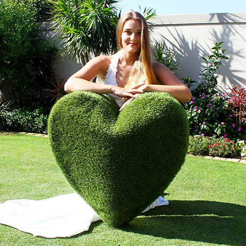 Outdoor artificial grass topiary frame plant sculpture