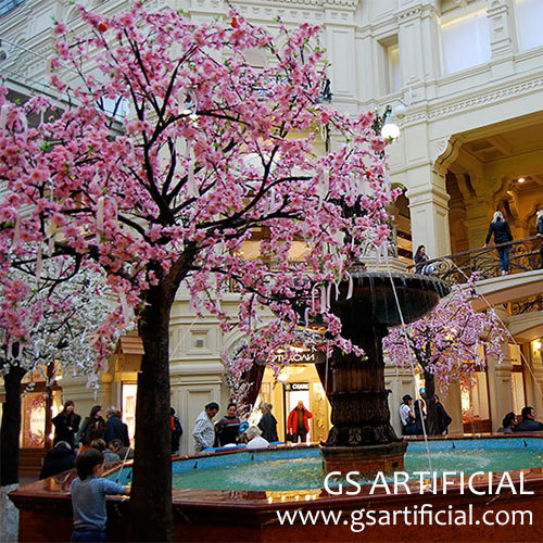 indoor decorations Artificial cherry blossom tree