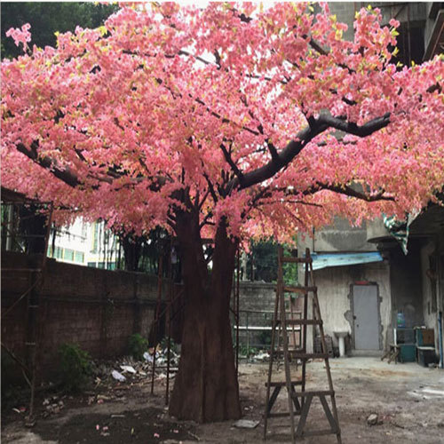 Big artificial cherry blossom tree pink sakura tree fibergla