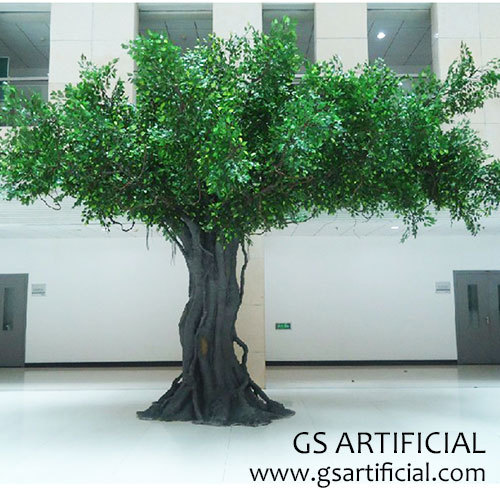 Fiberglass trunk Artificial ficus tree big fake banyan tree