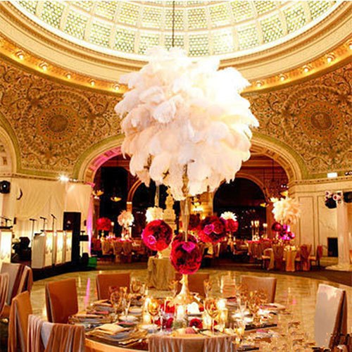 centerpieces for wedding table ostrich feather