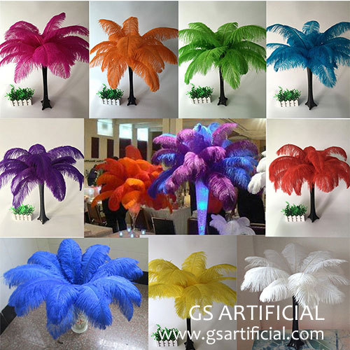ostrich feather wedding table decorations centerpiece