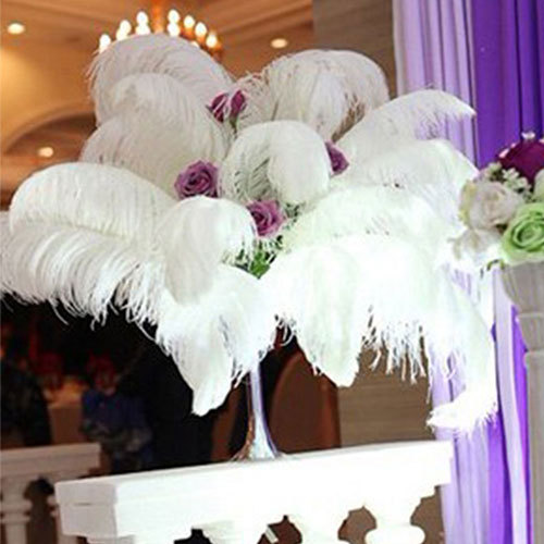 ostrich feathers centerpieces for weddings table