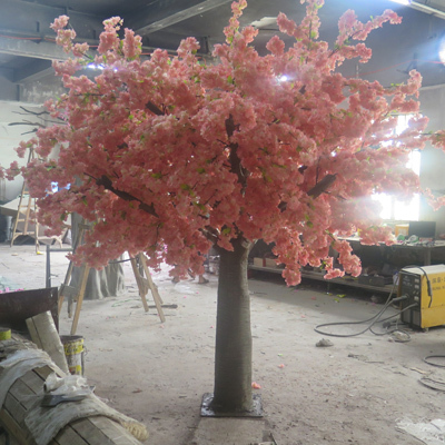 Pink cherry blossom tree for wedding decoration