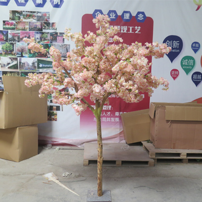 Wedding decoration pink cherry blossom tree