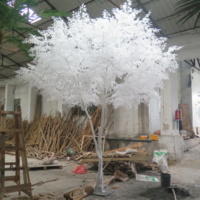 Hot sale white leaves artificial banyan tree