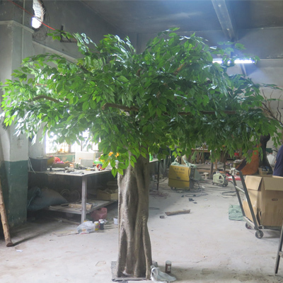 Large artificial decorative banyan tree for hotel restuarant