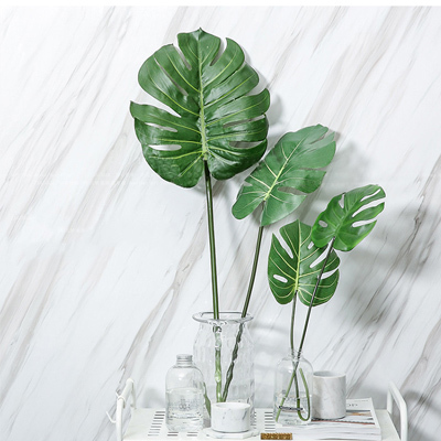 Artificial Monstera leaf for home decoration